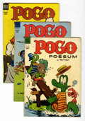 Golden Age (1938-1955):Humor, Pogo Possum #14-16 Group (Dell, 1953-54) Condition: Average VG-....(Total: 3 Comic Books)