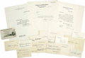 Autographs:Statesmen, President Herbert Hoover's Administration Autograph Collection....(Total: 16 Items)