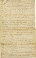 "Miscellaneous:Ephemera, Early New York State Depositions Regarding a Compulsive Thief,manuscript document, two pages, 7.75"" x 12.5"", Schenectady, N...(Total: 1 Item)"