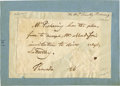 Autographs:Statesmen, Secretary of State Timothy Pickering Autograph Note Signed...