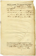 """Autographs:Military Figures, Patriot Henry Dearborn Document Signed, """"H Dearborn"""", partly-printed, one page, 8.25"""" x 13"""", Boston, Massachusetts, June... (Total: 1 Item)"""