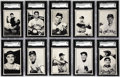 Baseball Cards:Sets, 1953 Bowman Black and White Baseball Complete Set (64). Similar in all respects to the 1953 Bowman color series; purportedly...