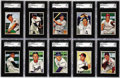 Baseball Cards:Lots, 1952 Bowman SGC-Graded Collection (61). Sixty-one graded gems fromthe vintage 1952 Bowman baseball issue, great breakup pot...