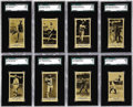 "Baseball Cards:Lots, 1916 M101-4 ""Everybody's Boys Clothing Department"" SGC-GradedCollection (22). These black-and-white cards share the format ..."