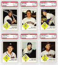 Baseball Cards:Lots, 1963 Fleer PSA-Graded Collection (19). Issued with a cookie, thisset was stopped short at one 66-card series due to a lawsu...