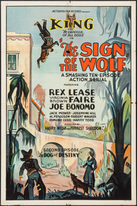 """The Sign of the Wolf (Metropolitan, 1931). One Sheet (27"""" X 41"""") Second Episode -- """"The Dog of Destiny.&q..."""