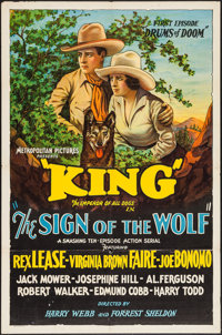 "The Sign of the Wolf (Metropolitan, 1931). One Sheet (27"" X 41"") First Episode -""Drums of Doom."" Ser..."
