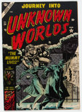 Golden Age (1938-1955):Horror, Journey Into Unknown Worlds #24 (Atlas, 1954) Condition: VG/FN....