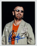 Music Memorabilia:Autographs and Signed Items, Beatles - Ringo Starr Signed Color Photo....