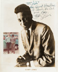 Music Memorabilia:Autographs and Signed Items, Bobby Lewis Signed Promotional Photo....