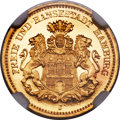 German States:Hamburg, German States: Hamburg. Free City gold Proof 5 Mark 1877-J PR65Ultra Cameo NGC,...