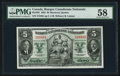 Canadian Currency: , Montreal, PQ- Banque Canadienne Nationale $5 Jan. 2, 1935 Ch. #85-14-02 . ...