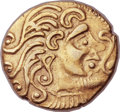 Ancients:Celtic, Ancients: CELTIC GAUL. The Parisii. Ca. 100-50 BC. AV stater (22mm, 7.36 gm, 3h). ...