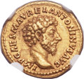 Ancients:Roman Imperial, Ancients: Marcus Aurelius (AD 161-180). AV aureus (20mm, 7.17 gm, 5h)....