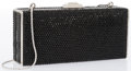 "Luxury Accessories:Accessories, Judith Leiber Full Bead Black Crystal Rectangle Minaudiere EveningBag. Very Good to Excellent Condition. 6"" Width x2..."