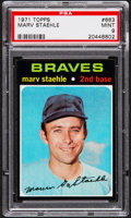 Baseball Cards:Singles (1970-Now), 1971 Topps Marv Staehle #663 PSA Mint 9 - Pop Three, NoneHigher....