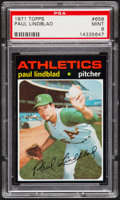 Baseball Cards:Singles (1970-Now), 1971 Topps Paul Lindblad #658 PSA Mint 9....