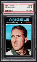 Baseball Cards:Singles (1970-Now), 1971 Topps Jim Maloney #645 PSA Mint 9....