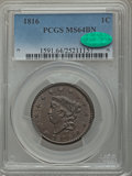 1816 1C N-2, R.1, MS64 Brown PCGS. CAC....(PCGS# 36526)