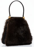 "Luxury Accessories:Accessories, Judith Leiber Brown Mink Top Handle Bag. Very Good to ExcellentCondition. 5.5"" Width x 3"" Height x 5.5"" Depth, 3""Han..."
