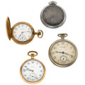 Timepieces:Pocket (post 1900), A Lot Of Four Open Face Pocket Watches. ... (Total: 4 Items)