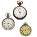 Timepieces:Other , Two Ingersoll Yankee & Brooks Bros. Pocket Alarm. ... (Total: 3 Items)