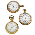 Timepieces:Pocket (post 1900), Three 18 Size Pocket Watches for Parts or Repair. ... (Total: 3 Items)