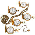 Timepieces:Pocket (post 1900), A Lot Of Five Hunter Cases Pocket Watches. ... (Total: 5 Items)