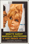 """Movie Posters:Foreign, A Very Private Affair (MGM, 1962). One Sheet (27"""" X 41""""). Foreign.. ..."""