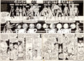 Original Comic Art:Panel Pages, George Perez and Dick Giordano Crisis on Infinite Earths #2Double Page Spread 9-10 Original Art Group of 2 (DC, 1... (Total: 2Original Art)