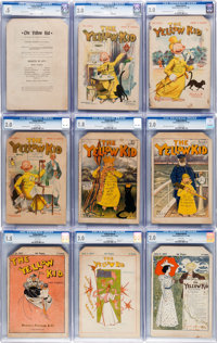 The Yellow Kid #1-9 Complete Run CGC-Graded Group (Howard, Ainslee & Co., 1897).... (Total: 9 Comic Books)