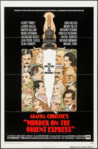 "Murder on the Orient Express (Paramount, 1974). One Sheet (27"" X 41""). Mystery"
