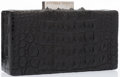 "Luxury Accessories:Bags, Bottega Veneta Black Alligator Clutch Bag. Very Good toExcellent Condition. 6.5"" Width x 3.5"" Height x 2""Depth. ..."