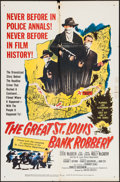 """Movie Posters:Crime, The Great St. Louis Bank Robbery (United Artists, 1959). One Sheet (27"""" X 41"""") & Title Lobby Cards (2) & Lobby Cards (6) (11... (Total: 9 Items)"""