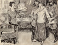 Mainstream Illustration, James Montgomery Flagg (American, 1877-1960). The BigAccusation. Pen and ink on paper. 20.75 x 27 in. (sight).Signed l...