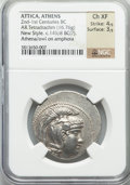 Ancients:Greek, Ancients: ATTICA. Athens. Ca. 149/8 BC. AR tetradrachm (16.76gm)....