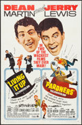 """Movie Posters:Comedy, Living It Up/Pardners Combo & Other (Paramount, R-1965). OneSheet (27"""" X 41"""") & Ad Slick (12"""" X 18""""). Comedy.. ... (Total:2 Items)"""