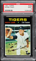 Baseball Cards:Singles (1970-Now), 1971 Topps Norm Cash #599 PSA Mint 9....
