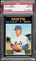 Baseball Cards:Singles (1970-Now), 1971 Topps Tug McGraw #618 PSA Mint 9....