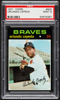 Baseball Cards:Singles (1970-Now), 1971 Topps Orlando Cepeda #605 PSA Mint 9....