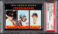 Baseball Cards:Singles (1970-Now), 1971 Topps Indians Rookies #612 PSA Mint 9 - Pop Four, NoneHigher....