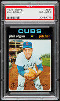 Baseball Cards:Singles (1970-Now), 1971 Topps Phil Regan #634 PSA NM-MT 8....
