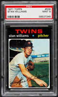 Baseball Cards:Singles (1970-Now), 1971 Topps Stan Williams #638 PSA Mint 9 - Pop Four, None Higher....