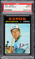 Baseball Cards:Singles (1970-Now), 1971 Topps John Bateman #628 PSA Mint 9....
