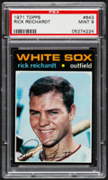 Baseball Cards:Singles (1970-Now), 1971 Topps Rick Reichardt #643 PSA Mint 9....