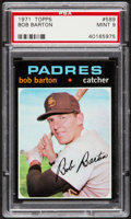 Baseball Cards:Singles (1970-Now), 1971 Topps Bob Barton #589 PSA Mint 9....