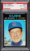 Baseball Cards:Singles (1970-Now), 1971 Topps Leo Durocher #609 PSA NM-MT+ 8.5....