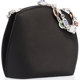 "Judith Leiber Black Satin Evening Bag with Silver Hardware Excellent Condition 7"" Width x 3"" Height x 6""..."