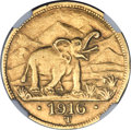 German East Africa, German East Africa: German Colony gold 15 Rupien 1916-T AU55 NGC,...