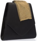 "Luxury Accessories:Bags, Paloma Picasso Black Satin Evening Bag. Excellent Condition.7"" Width x 7"" Height x 2"" Depth. ..."